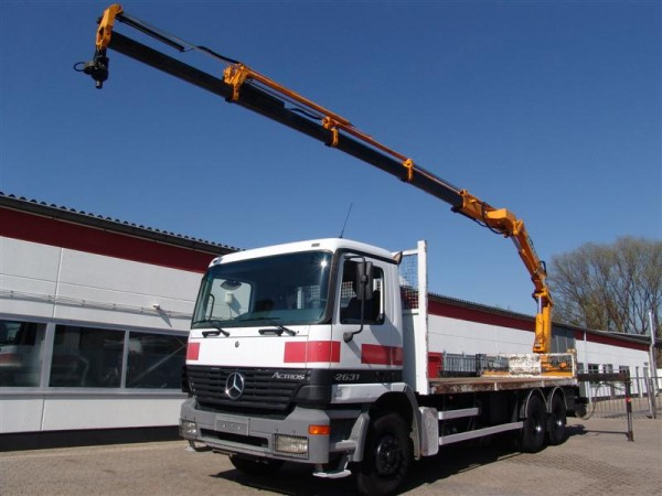 Mercedes-Benz - Actros 2631 6x4 + crane Effer 170 4S with remote control