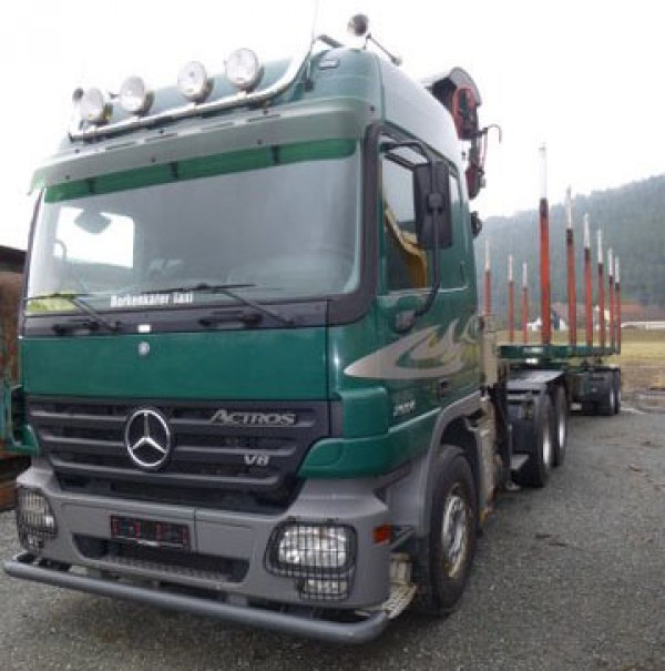 Mercedes-Benz - Actros 2654 6x4Actros 2654 6x4 timber crane trailer complete train for short and long logs