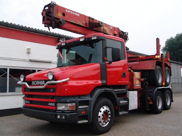 Scania - 144G 460 Long timber truck