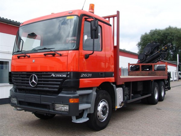 Mercedes-Benz - Actros 2631 with 13.8 m crane Hiab 195-5