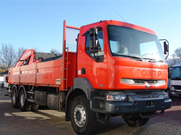 Renault - Kerax 370dci 6x4 plate-forme grue Fassi F170A.23 Clim