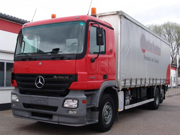 Mercedes-Benz - Actros 2532 NL flatbed plane tautliners Forklifts fixation