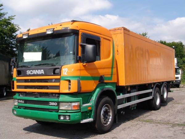 Scania 114G 380 Schubboden Hydraulik Schlafkabine Klima