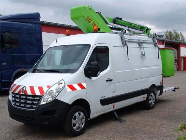 Renault - Master working lift 142TPF 14,5m 2 person basket trailer coupling