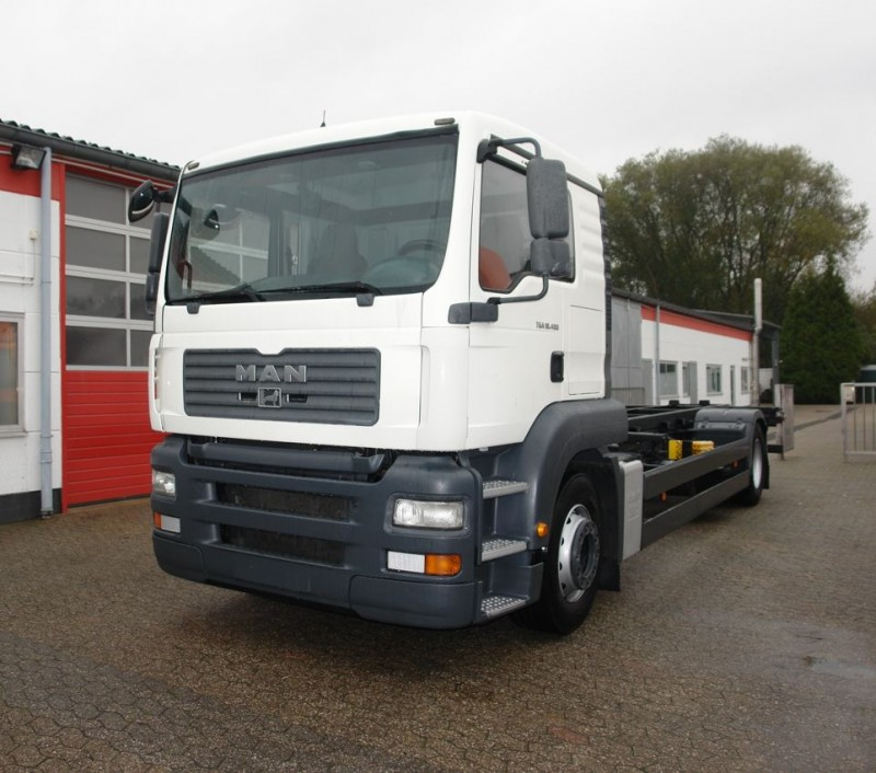MAN - TGA 18.400 LLS BDF swap body chassis airconditioning manual gearbox EURO4 new TÜV!