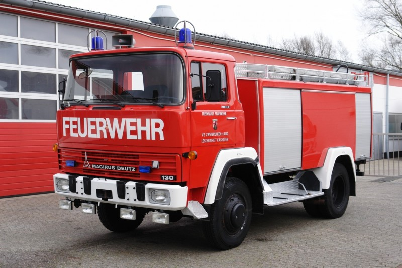 Magirus - Deutz FM 130D 4x4 firefighter engine truck tank 2750l top condition!
