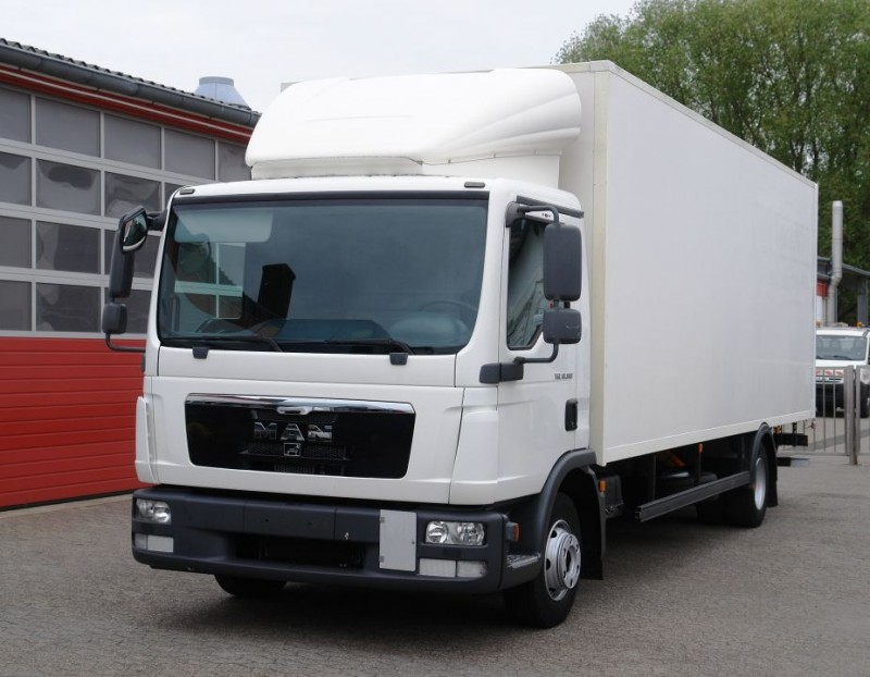 MAN - TGL 10.180 box 7,0 meter manual gearbox airco liftgate TÜV new!