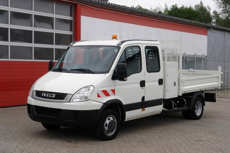 Iveco - Daily 35C13 double cabin 7 seats tipper toolbox new TÜV
