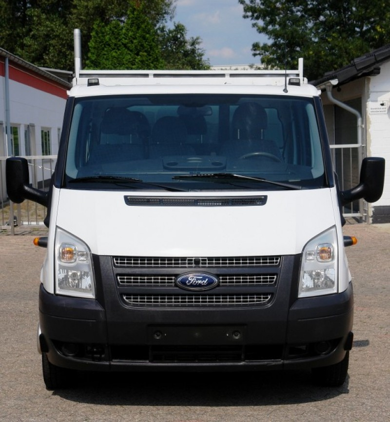 Ford Transit FT350 double cabin tipper toolbox airco towbar EURO5 new TÜV
