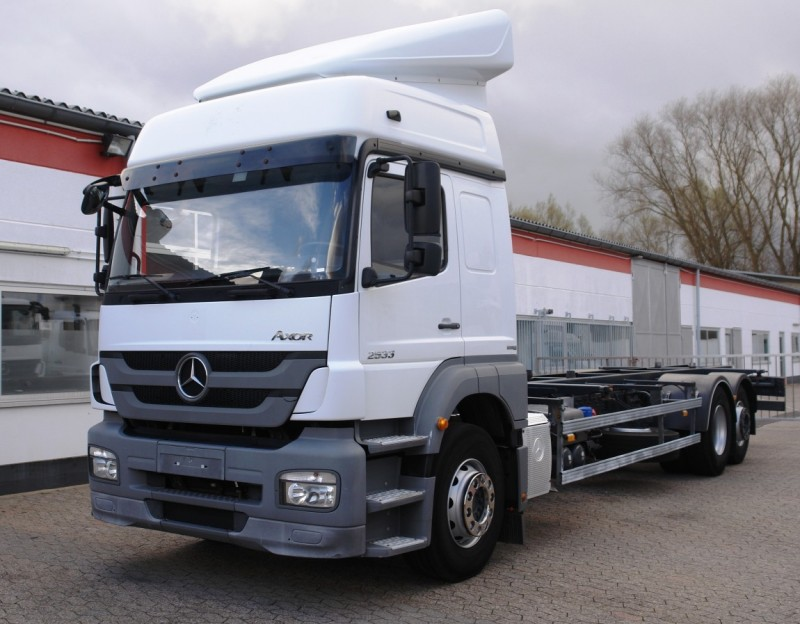 Mercedes-Benz - Axor 2533L Chassis swap body BDF stationary climate gearbox wheelbase 6000mm EURO5 TÜV new!