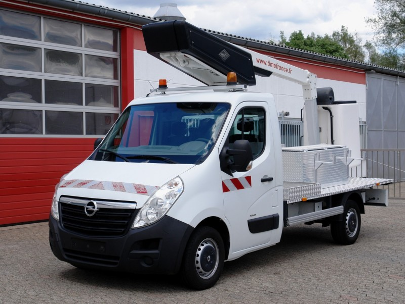 Opel - Movano 125 CDTi aerial work lift ET-30-LE 11m basket 120kg towbar EURO5 new TÜV UVV!